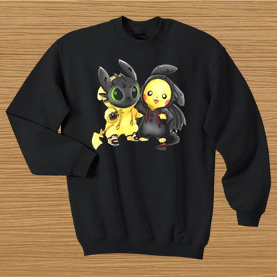 Baby Toothless and Pikachu