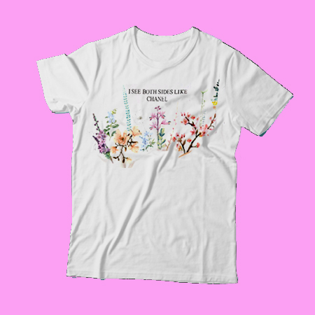 I see both sides like chanel spring flower t shirt for men for I see both sides like chanel shirt
